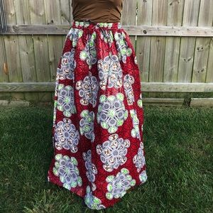 Dresses & Skirts - African wax cloth print skirts assorted colors: